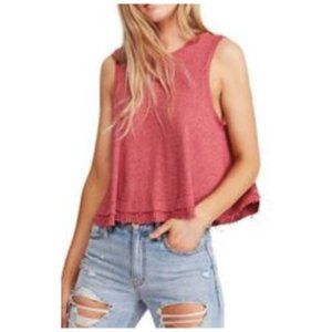 Free People Women's New Love Tank - Red - Size: XS